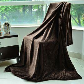 Superfine Microfibre Flannel Blanket Chocolate (Size 200x150 Cm)