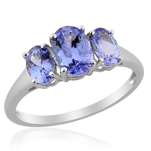 Tanzanite 9K W Gold Ring  1.80 Ct.