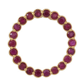 Burmese Ruby (Rnd) Circle of Life Pendant in 14K Gold Overlay Sterling Silver 2.000 Ct.