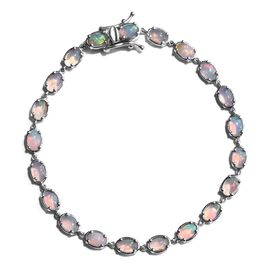 Ethiopian Welo Opal (Ovl) Bracelet (Size 7.5) in Platinum Overlay Sterling Silver 5.000 Ct.