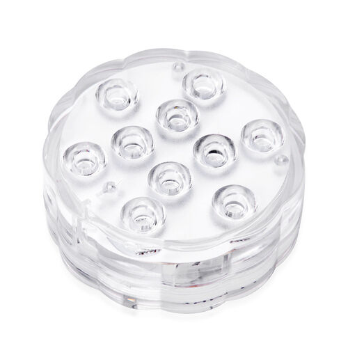 Home Decor - Multi Colour Submersible Waterproof LED Light Lamp with Remote Control (SIze 6.6x3 Cm)