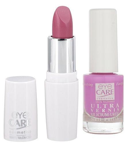 Eyecare cosmetics- Pink Lip colour 632, Ultra silicon nail enamel 1517