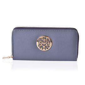 Arbra Light Grey Colour Wallet (Size 19.5x9.5x3 Cm)