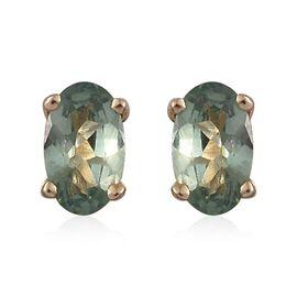 9K Yellow Gold 0.50 Carat AA Narsipatnam Alexandrite Solitaire Stud Earrings (with Push Back)