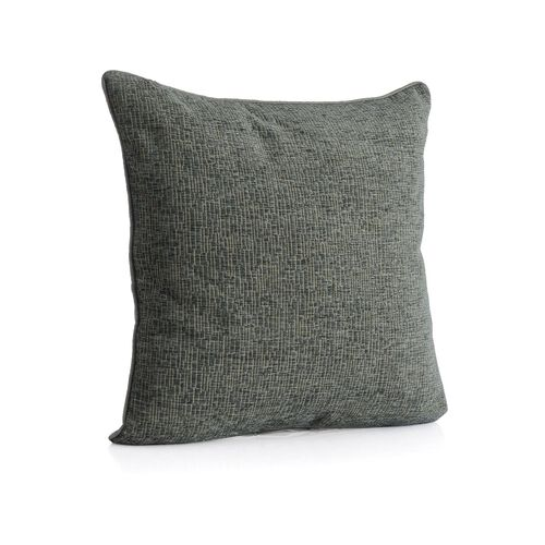 (Option 1) Tiles Pattern Grey Colour Cushion (Size 43x43 Cm)