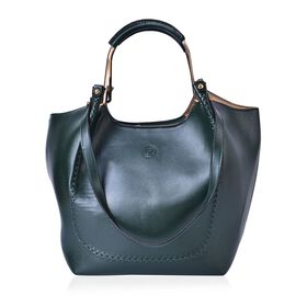 LIMITED COLLECTION Yuan Teal Colour Tote Bag (Size 38x27x26x16 Cm)