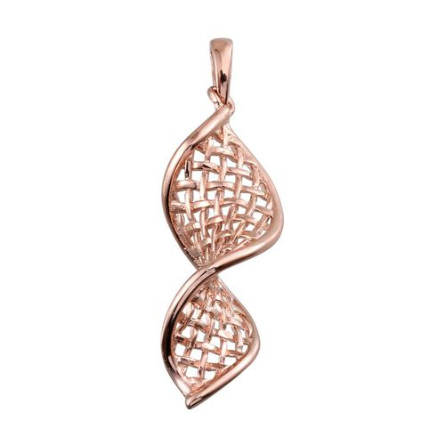 Rose Gold Overlay Sterling Silver Pendant, Silver wt 4.24 Gms.