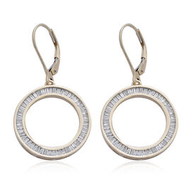 9K Y Gold SGL Certified Diamond (Bgt) (I3/ G-H) Circle of Life Lever Back Earrings 1.000 Ct.