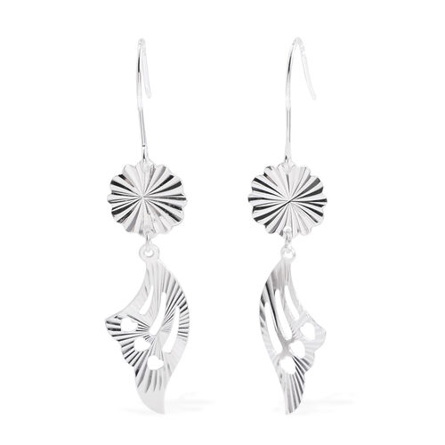 Close Out Deal Sterling Silver Feather Hook Earrings, Silver wt 3.00 Gms.