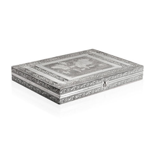 100 Ring Box with World Map Embossed On Top (Size 37x25 Cm)
