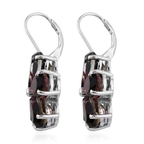 Bi-Color Tourmaline Quartz (Pear) Floral Earrings in Platinum Overlay Sterling Silver 16.250 Ct.