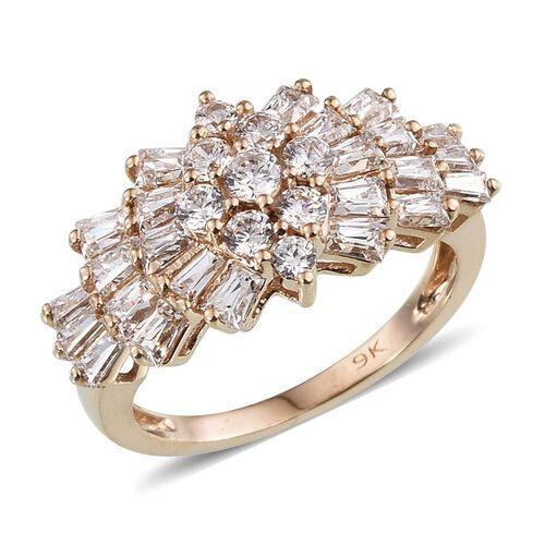 9K Y Gold (Rnd) Ring Made with SWAROVSKI ZIRCONIA