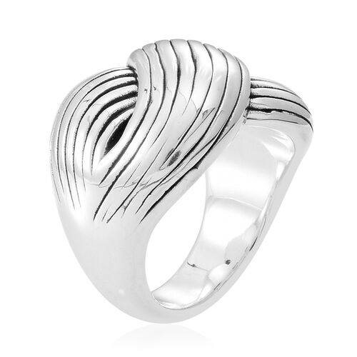 Thai Sterling Silver Criss Cross Ring, Silver wt 6.00 Gms.