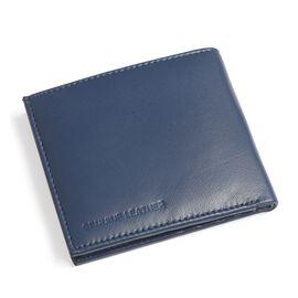 Genuine Leather Blue Colour RFID Multi Utility Wallet (Size 11x10 Cm)