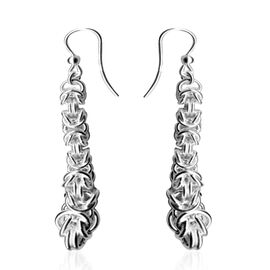 Limited Available- JCK Vegas Collection Sterling Silver Byzantine Hook Earrings, Silver wt. 6.76 Gms.