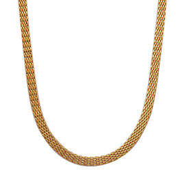 ION Plated Yellow Gold Stainless Steel Mesh Necklace (Size 24)