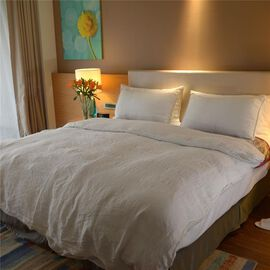 100% Linen Stone Washed Off White Colour Double Size Duvet Cover (Size 200x200 Cm) and Two Pillow Cases (Size 75x50 Cm)