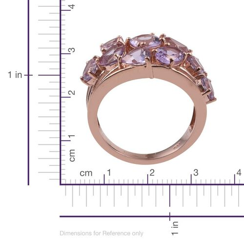 Rose De France Amethyst (Cush 0.80 Ct) Ring in Rose Gold Overlay Sterling Silver 5.000 Ct.
