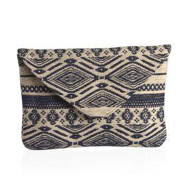 Cream and Black Colour Hand Bag (Size 28x20 Cm)