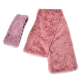 Set of 2 - Pink Colour Headband (Size 45x10 Cm) and Scarf (Size 90x15 Cm)