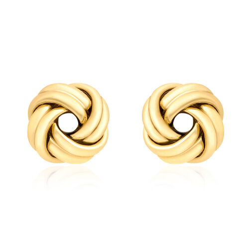 Close Out Deal 9K Yellow Gold Spanish Stud Knot Earrings (with Push Back) Gold wt. 1.28gms