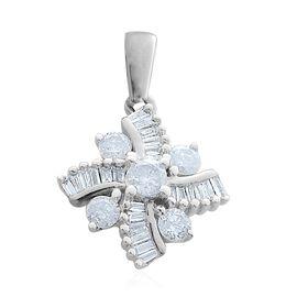 9K W Gold SGL Certified Diamond (Rnd) (I 3/G-H) Pendant 0.500 Ct.