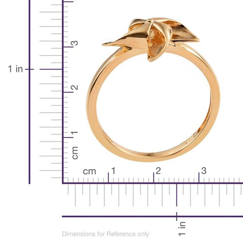Origami Wind Mill Ring in 14K Gold Overlay Sterling Silver, Silver wt 3.24 Gms.