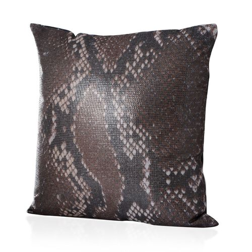Multi Colour Snake Pattern Cushion (Size 43x43 Cm)