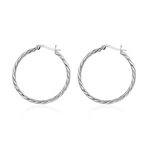 Thai Sterling Silver Hoop Earrings (with Clasp)