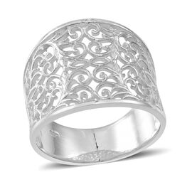 Thai Sterling Silver Filigree Ring, Silver wt 5.15 Gms.