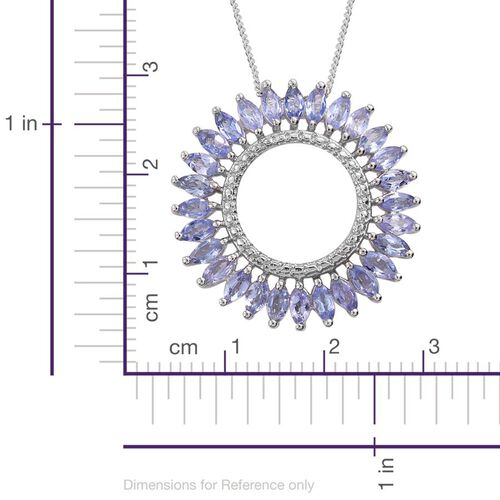 Tanzanite (Mrq) Pendant With Chain in Platinum Overlay Sterling Silver 2.500 Ct.