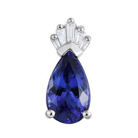 RHAPSODY 950 Platinum 2.25 Carat AAAA Tanzanite And Diamond Crown Pendant
