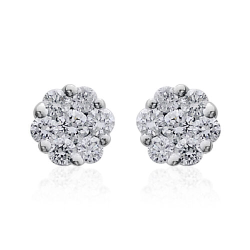 ILIANA 18K W Gold IGI Certified Diamond (Rnd) (SI/G-H) Stud Earrings (with Screw Back) 0.250 Ct.