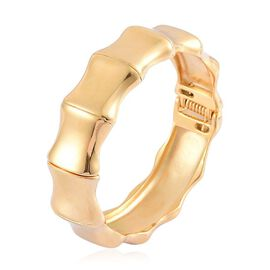ION Plated Yellow Gold Stainless Steel Bangle (Size 7.5)