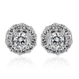 ILIANA 18K W Gold IGI Certified Diamond (Rnd) (SI/ G-H) Stud Earrings (with Screw Back) 0.500 Ct.