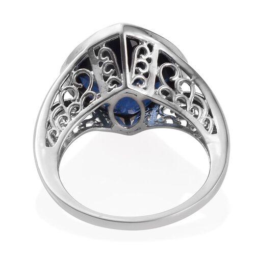 Ceylon Colour Quartz (Cush) Solitaire Ring in Platinum Overlay Sterling Silver 9.500 Ct.