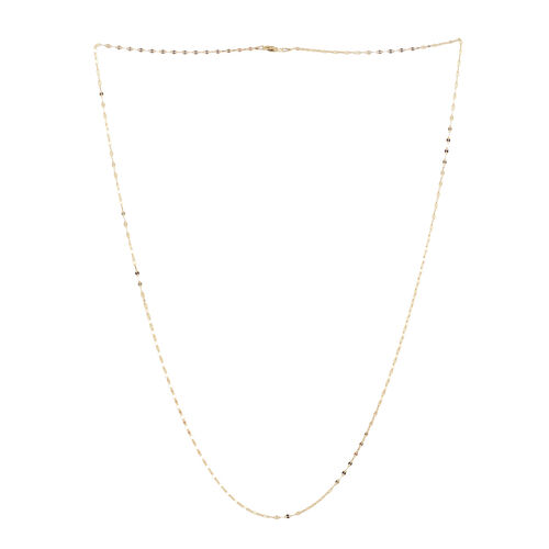 14K Gold Overlay Sterling Silver Sparkle Forzatina Chain (Size 30), Silver wt 3.50 Gms.