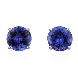 ILIANA 18K W Gold AAA Tanzanite (Rnd) Stud Earrings (with Screw Back) 3.000 Ct.