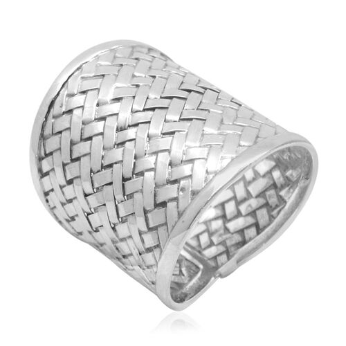 Royal Bali Bamboo Weave Collection Sterling Silver Ring, Silver wt 7.48 Gms.