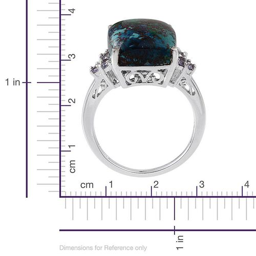 Table Mountain Shadowkite (Cush 14.50 Ct), Tanzanite Ring in Platinum Overlay Sterling Silver 14.900 Ct.