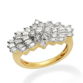 ILIANA 18K Y Gold IGI Certified Diamond (Rnd 0.07 Ct) (SI/G-H) Ring 1.000 Ct.