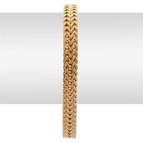 Foxtail Bracelet (Size 8) in Gold Tone with Stainless Steel