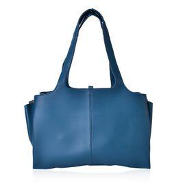 Turquoise Colour Tote Bag (Size 53x37x25x11 Cm)