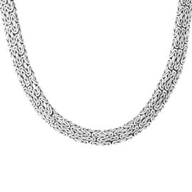 Royal Bali Collection Sterling Silver Borobudur Necklace (Size 18), Silver wt 168.03 Gms.