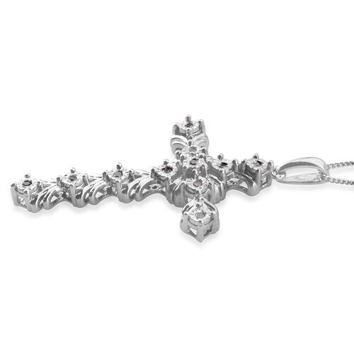 Diamond (Rnd) Cross Pendant With Chain 0.120 Ct.