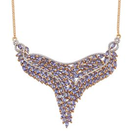 Tanzanite (Mrq) Necklace (Size 18) in 14K Gold Overlay Sterling Silver 17.750 Ct.
