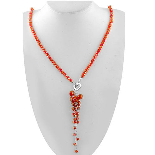 Red Austrian Crystal Necklace (Size 32)