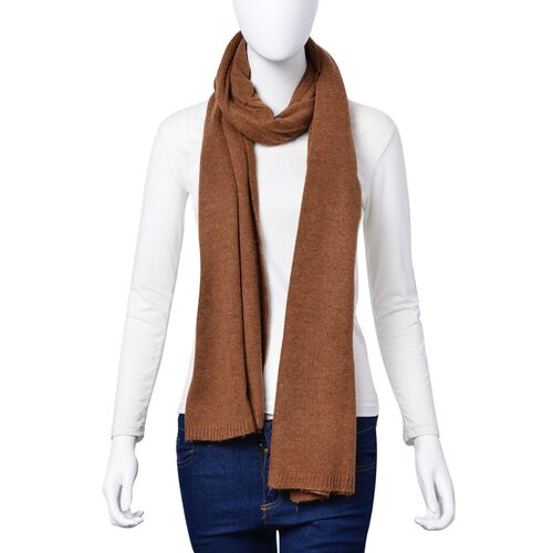 Tan Colour Scarf (Size 210x60 Cm)