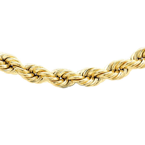 Close Out Deal 9K Y Gold Diamond Cut Rope Necklace (Size 20), Gold wt 4.80 Gms.