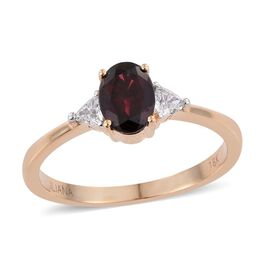 ILIANA 18K Y Gold Top Noble Ruby Red Spinel (Ovl 2.10 Ct), Diamond Ring 2.300 Ct.